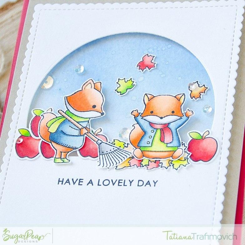 Have A Lovely Day #handmade card by Tatiana Trafimovich #tatianacraftandart - Fall Fox stamp set by SugarPea Designs #sugarpeadesigns