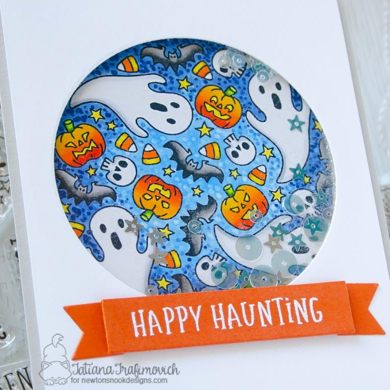 Happy Haunting #handmade card by Tatiana Trafimovich #tatianacraftandart - Spooky Roundabout stamp set by Newton's Nook Designs #newtonsnook
