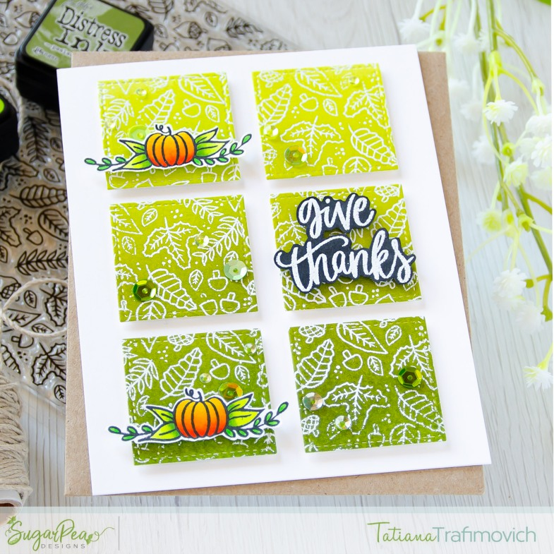 Give Thanks #handmade card by Tatiana Trafimovich #tatianacraftandart - Autumn Blessings stamp set by SugarPea Designs #sugarpeadesigns