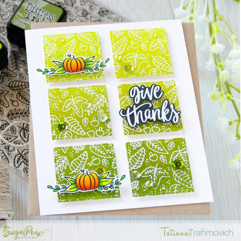 Give Thanks #handmade card by Tatiana Trafimovich #tatianacraftandart - Autumn Blessings stamp set by SugarPea Designs #sugarpeadesigns