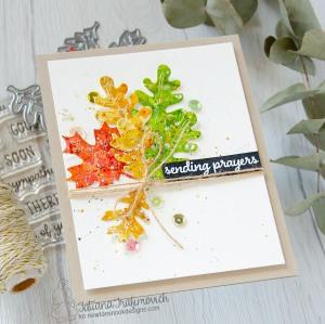 Sending Prayers #handmade card by Tatiana Trafimovich #tatianacraftandart - Autumn Leaves Die set by Newton's Nook Designs #newtonsnook