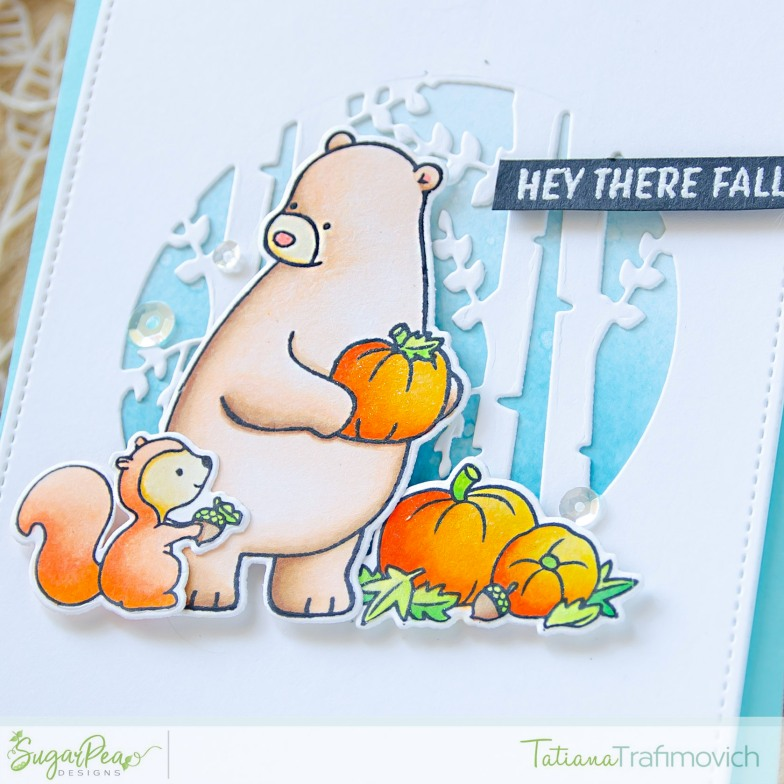 Hey There Fall #handmade card by Tatiana Trafimovich #tatianacraftandart - Hey Fall stamp set by SugarPea Designs #sugarpeadesigns