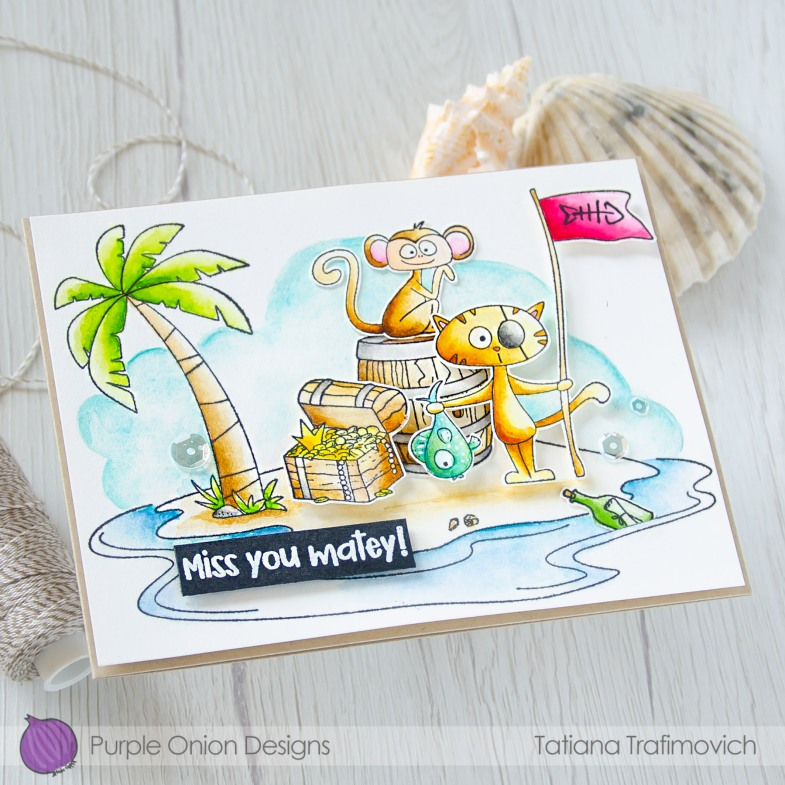 My Deepest Thanks #handmade card by Tatiana Trafimovich #tatianacraftandart - stamps by Purple Onion Designs #purpleoniondesigns
