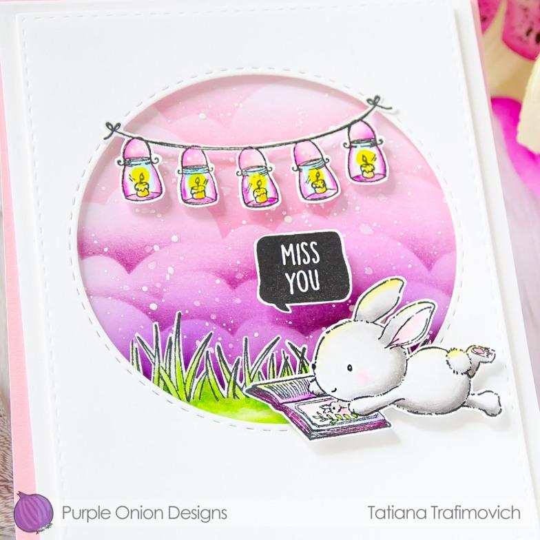 Miss You #handmade card by Tatiana Trafimovich #tatianacraftandart - stamps by Purple Onion Designs #purpleoniondesigns
