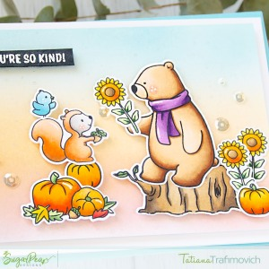 You're So Kind #handmade card by Tatiana Trafimovich #tatianacraftandart - Hey Fall stamp set by SugarPea Designs #sugarpeadesigns