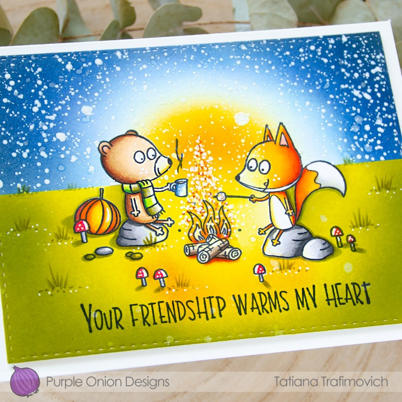 Your Friendship Warms My Heart #handmade card by Tatiana Trafimovich #tatianacraftandart - stamps by Purple Onion Designs