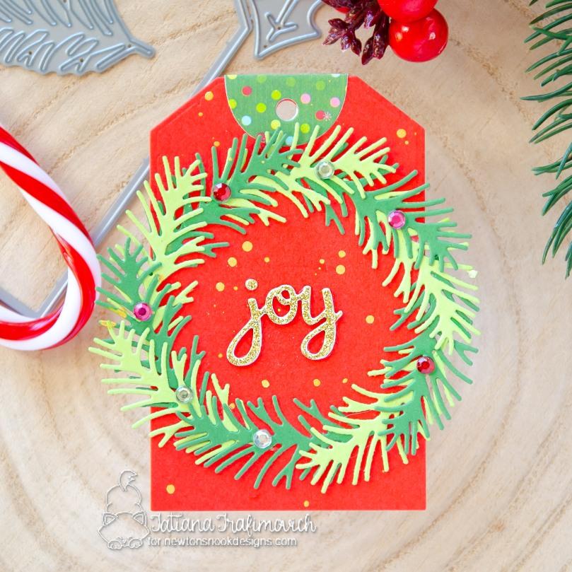 Christmas #handmade tags by Tatiana Trafimovich #tatianacraftandart - Pines & Holly Die Set by Newton's Nook Designs #newtonsnook