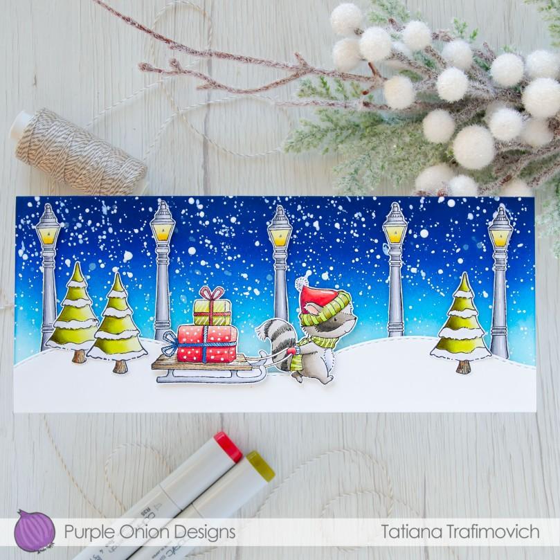 Merry & Bright #handmade card by Tatiana Trafimovich #tatianacraftandart - stamps by Purple Onion Designs