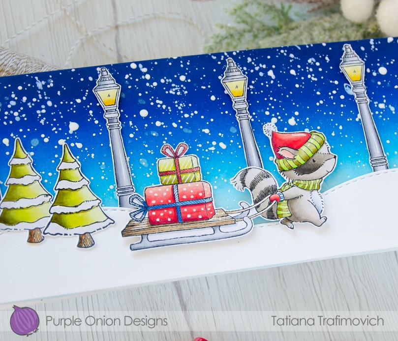 Merry & Bright #handmade card by Tatiana Trafimovich #tatianacraftandart - stamps by Purple Onion Designs