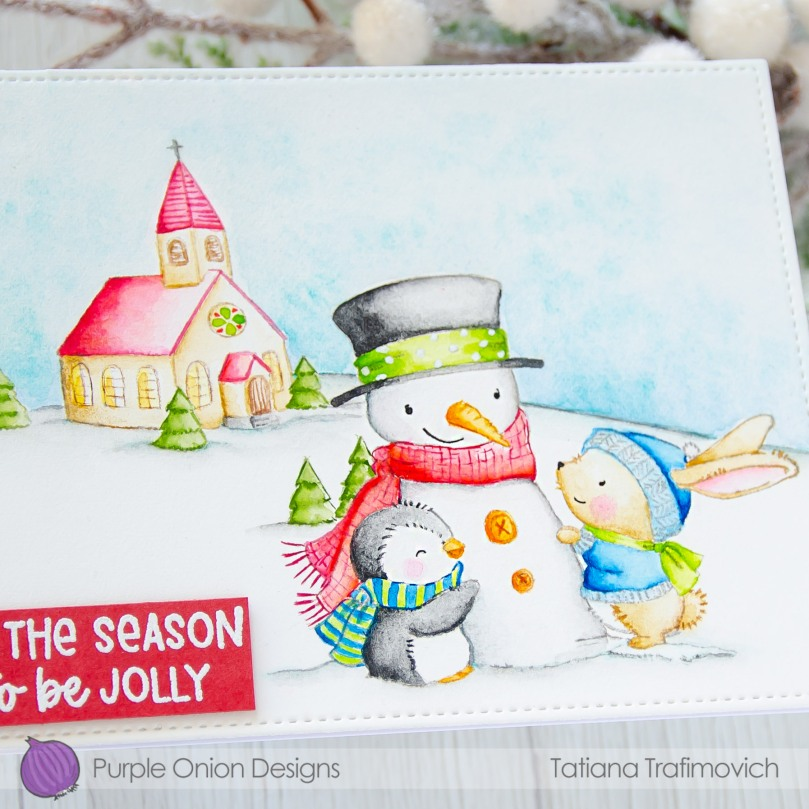 'tis The Season To Be Jolly #handmade card by Tatiana Trafimovich #tatianacraftandart - stamps by Purple Onion Designs