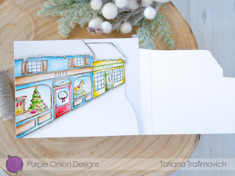 Trifold Holiday #handmade card by Tatiana Trafimovich #tatianacraftandart - stamps by Purple Onion Designs