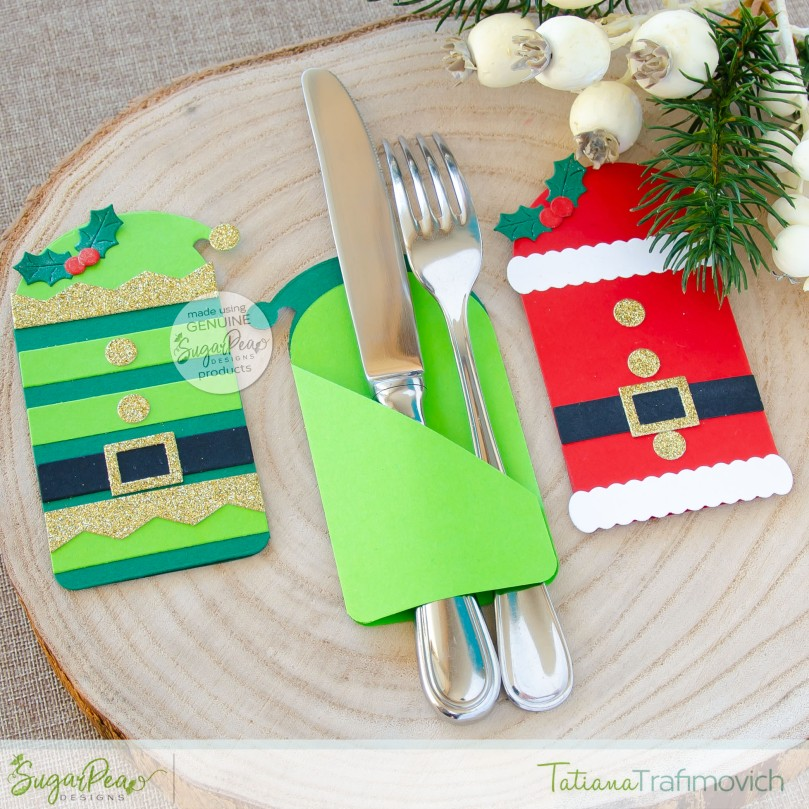 DIY Cutlery Holders by Tatiana Trafimovich #tatianacraftandart - SugarCuts by SugarPea Designs #sugarpeadesigns