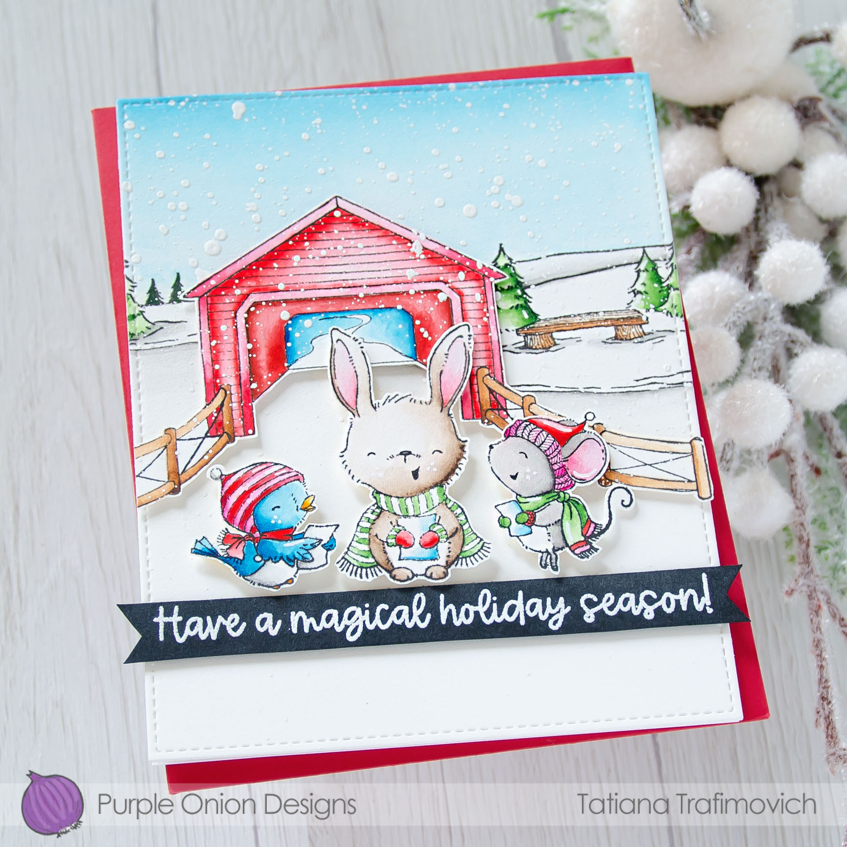 Have A Magical Holiday Season #handmade card by Tatiana Trafimovich #tatianacraftandart - stamps by Purple Onion Designs