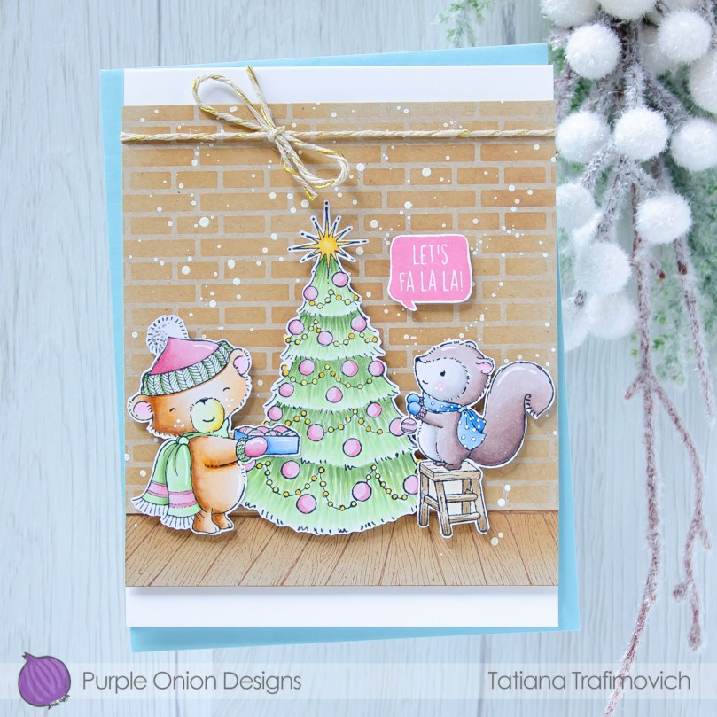 Let's Fa La La #handmade card by Tatiana Trafimovich #tatianacraftandart - stamps by Purple Onion Designs